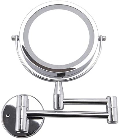 バニティミラーツェッペリン化粧鏡1X / 3X倍率ウォールは、調節可能なメイクアップミラーデュアルアーム2 - フェイスバスルー