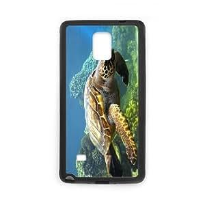 Samsung Galaxy Note 4 Cases Sea Turtle, Phone Case for Samsung Galaxy Note 4 for Guys - [Black] Okaycosama