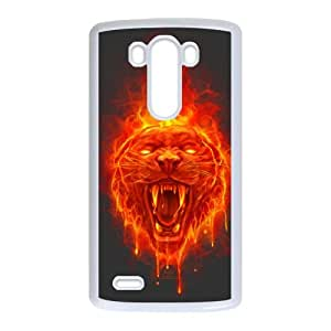LG G3 Cell Phone Case White Flaming Cat Bnzao