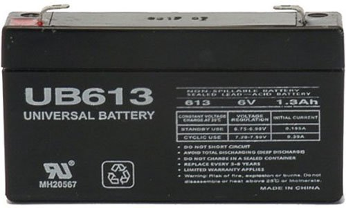 6V 1.3AH GE 600-1054-95R Simon XT Replacement Battery