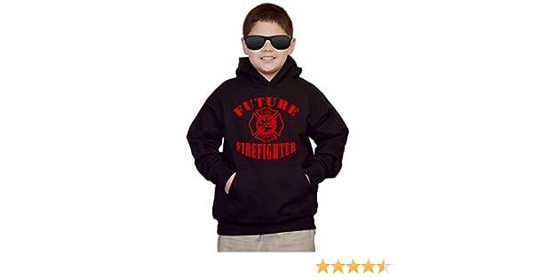 Youth Future Firefighter V486 Red kids Sweatshirt Hoodie