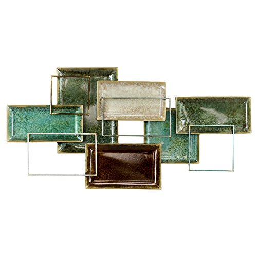 Aspire Niya Abstract Metal Wall Decor - green wall art