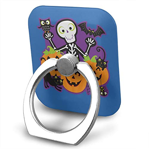 Happy Index Halloween Party 360° Rotation Cell Phone Ring Holder Cellphone Finger Stand for iPhone, IPad, Samsung Galaxy S9/S8 and More Smartphones -