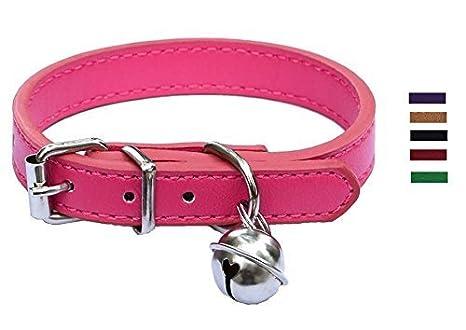 Lanyar Collares de Piel para Mascotas para Gatos, Cachorros de bebé, Ajustables de 20 a 26,5 cm: Amazon.es: Productos para mascotas