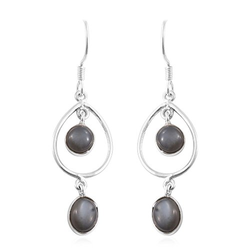 Titanium Moonstone Sterling Silver (Moonstone Titanium Earrings)