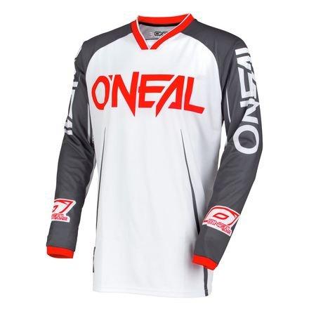 O'Neal Youth Mayhem Blocker Jersey (White/Gray, Large)