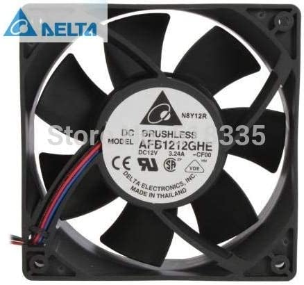 for delta AFB1212GHE-CF00 120x120x38mm Cooling Fan 240.96 CFM 5200 RPM 62 dBA 3-pin TAC connector
