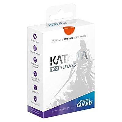 Ultimate Guard Katana Sleeves Standard Size Orange (100): Toys & Games