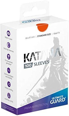 Ultimate Guard Katana Standard Size Sleeves Orange 100