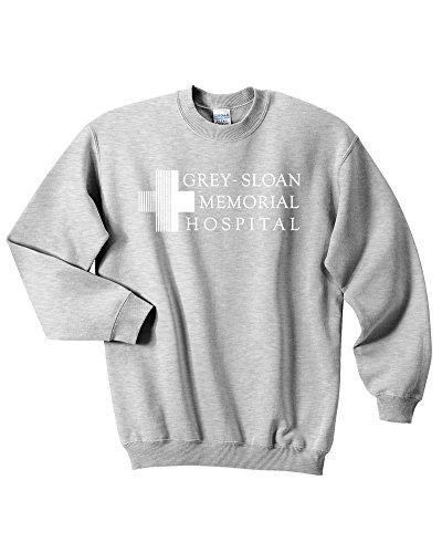 Mars NY Unisex Grey Sloan Memorial Hospital Sweatshirt (Grey, Small)