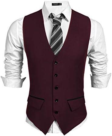 COOFANDY Business Skinny Wedding Waistcoat product image