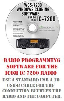 Used, Icom IC-7200 HF/50 MHz Radio Programming Software for sale  Delivered anywhere in USA