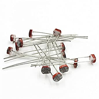 SUNKEE 20 PCS Photoresistor GL5528 LDR Photo Resistors Light ...