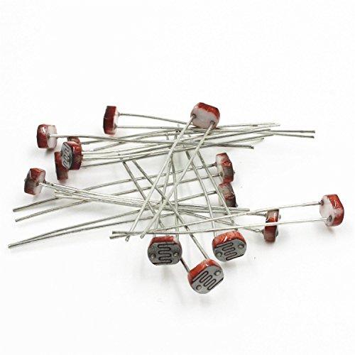 (goeasybuy 20pcs Photo Light Sensitive Resistor Photoresistor Optoresistor 5mm GM5539 5539 )