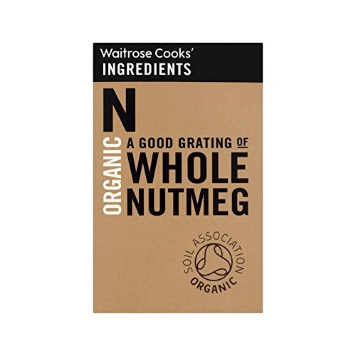 Cooks' Ingredients Organic Whole Nutmeg Waitrose 35g - Pack of 6