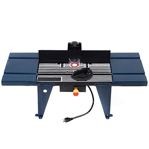 9TRADING Electric Aluminum Router Table Routing Wood Working Tool Benchtop New