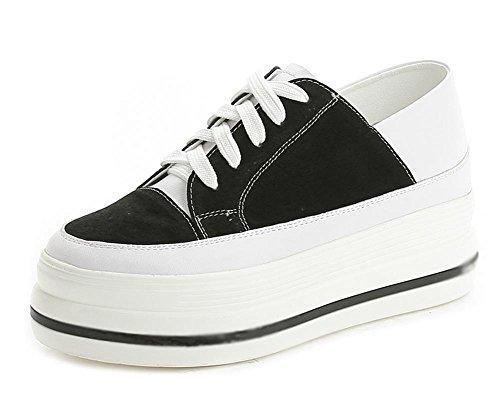 zapatos casuales Sra primavera y otoño, zapatos de deporte de los zapatos del elevador mollete pesado de fondo de encaje zapatos , US7.5 / EU38 / UK5.5 / CN38