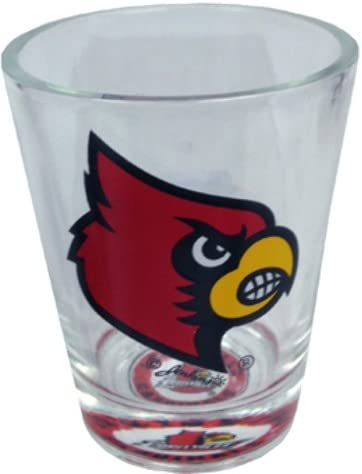 One Size Multicolor Game Day Outfitters NCAA Louisville Cardinals Bullseye Bottom Shotglass