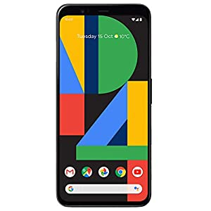 Google Pixel 4 G020M 64GB 5.7 inch Android (GSM Only, No CDMA) Factory Unlocked 4G/LTE Smartphone – International Version (Just Black) (Renewed)