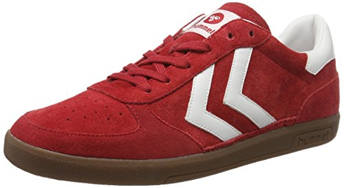 Hummel Victory, Sneakers Basses Mixte Adulte, Bleu Clair/Blanc, 42 EU Rouge (Ribbon Red)