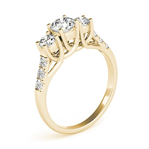 1/4 Carat Engagement Ring Crafted In 14k Solid Yellow Gold