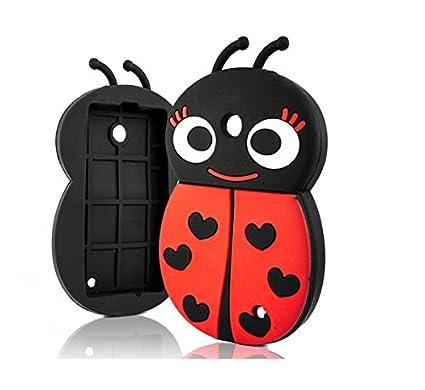 Ladybird 3d Silicone Back Case For Samsung Galaxy S4 Mini La Fleur