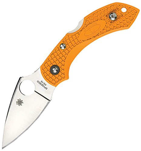 Spyderco Dragonfly 2 Plain Edge Folding Knife, Orange