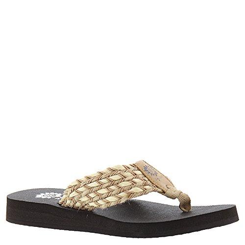 yellow box flip flops brown - 7