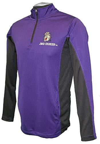 (RussellApparel NCAA James Madison University Men's Techtron Mesh Mock Neck Sweatshirt - XX-Large, Purple, James Madison University)