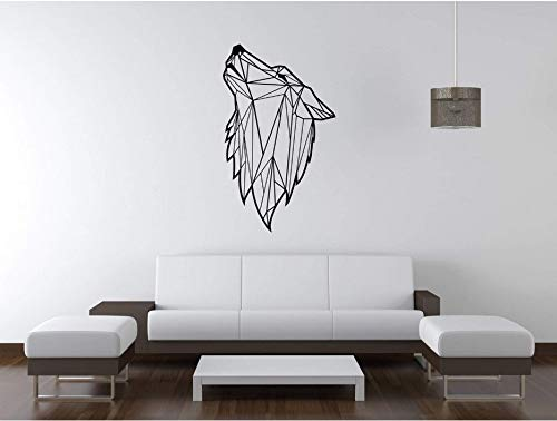 wuyyii Modern Geometric Wolf Animal Wall Decals for Kids Boys Bedroom Living Room Vinyl Decals Wall Stickers for $<!--$25.23-->