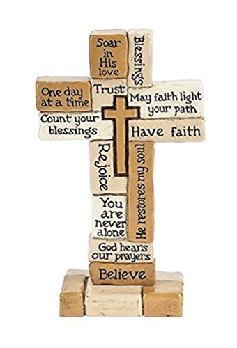 Standing Cross, Inspirational Collage Staniding Cross 5-1/2