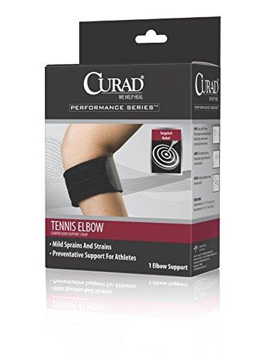 Curad Universal Tennis Elbow Compression Support Strap, Deluxe - Universal Tennis Elbow Neoprene Strap