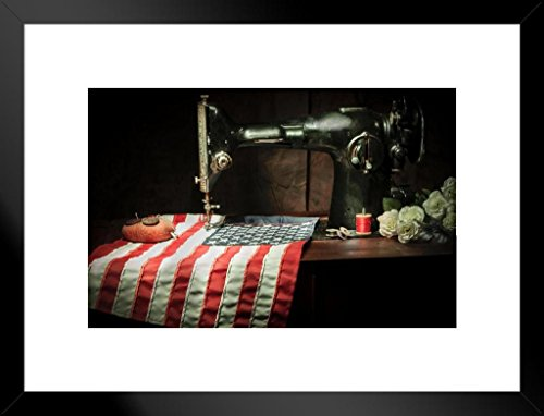 Poster Foundry The Hands That Built America Photo Art Print Matted Framed Wall Art 26x20 ()