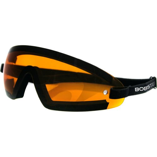 Bobster Cruiser Lens (Bobster Wrap Around Adult Cruiser Motorcycle Goggles Eyewear - Black/Amber/One Size Fits All)