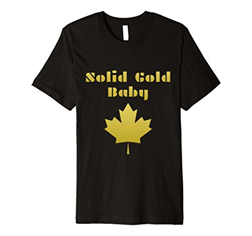 Parliament Shirts: Solid Gold Baby Maple Leaf Canada T Shirt