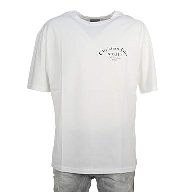 buy online 16eb4 2cdf4 Amazon   (ディオールオム) DIOR HOMME 半袖Tシャツ ATELIER ...