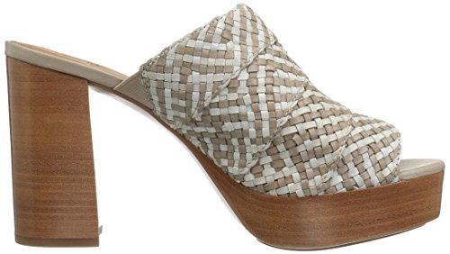 Frye Kvinna Katie Vävda Plattform Glid Sandal Vit / Multi