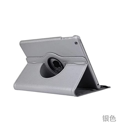 SuperLite 360 Degrees Rotating Stand Leather Case for Ipad 2/3/4, Silver ()