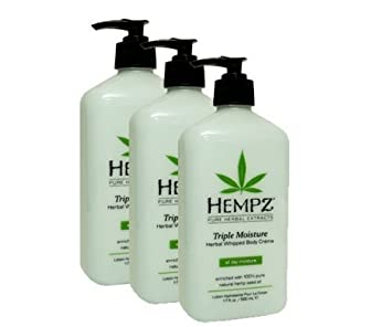 Hempz Triple Moisture Herbal Whipped Body Creme, 17 Oz Pack Of 3, 17 Oz
