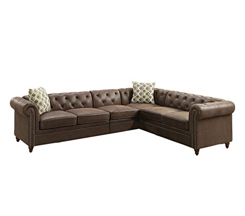 Poundex F6545 Breathable Leatherette Sectional Review