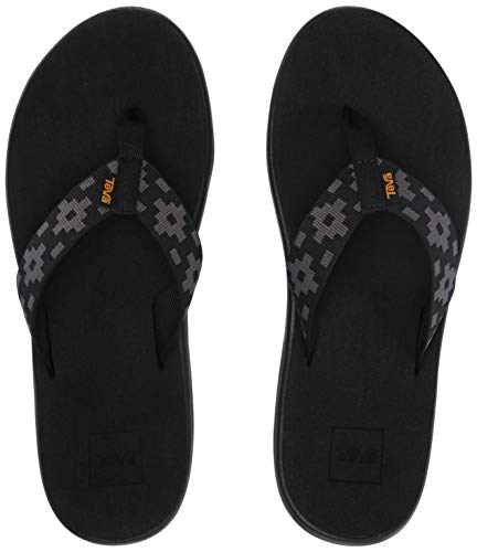 Teva Women's W VOYA FLIP Flop, Maya Check Black, 6 Medium US