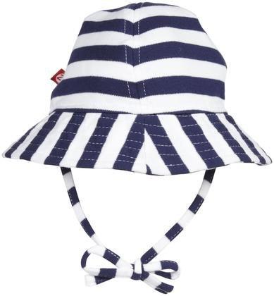 Zutano Unisex Baby Primary Stripe Sun Hat, Navy/White, 12 Months