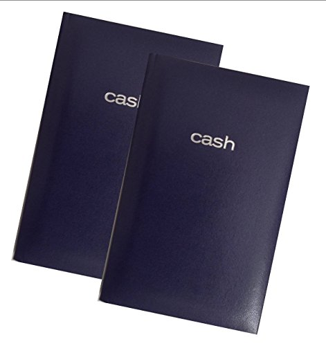 Mead Cash Book, 7-15/16 x 5-1/8 inches, 144 pages Hardbound Dark Blue Cover (64582) - Set of 2 Books