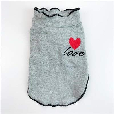 Veena Pet Puppy Dog Hoodies for Small Medium Dogs Pug Poodle Dog Clothes Cotton Pet Hoodie Costumes Clothing Apperalgray L