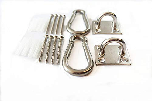 MHMYDZ 600 lb Capacity Premium Hammock Hooks Best Hanging Kit for Indoor Relaxation Set of Ceiling Hook Hanger, Spring Snap Hooks and Screws Durable Hammock Hooks Carabiners for Hammocks Indoor
