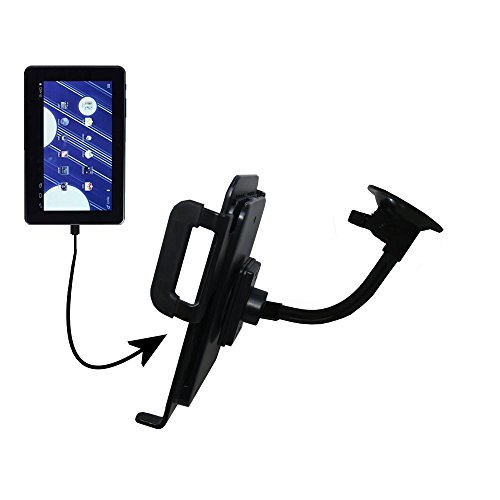 Custom Suction Cup Gooseneck Cradle / Holder Stand for the Double Power M7088 7 inch tablet Tablet by Gomadic (Image #6)