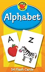 FIRST WORDS:Master the English alphabet with this set of flash cards designed for early learners. This toddler learning activity is the first step to efficient reading and accurate comprehension.          EARLY LEARNING NECESS...