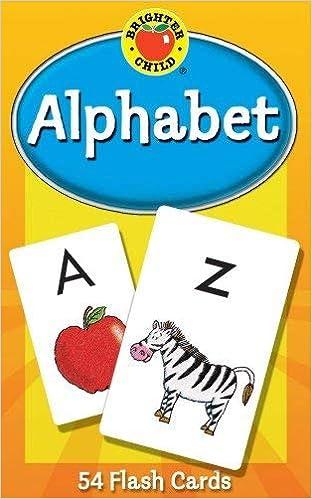 Alphabet (Brighter Child Flash Cards): Amazon co uk: School