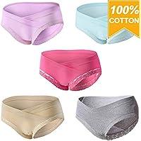 Mommy Jennie Women Under Bump Cotton Maternity-Underwear, Healthy Maternity Pregnancy Panties, Multi Pack