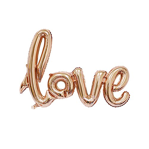 UltimaFio(TM) 1PC Love Letter Balloons Large Foil Balloon Home Garden Decor&Birthday/Wedding Party Decoration Valentines Day Balloons Supplies [Gold] from UltimaFio